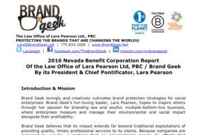 Brand Geek Corporate Report